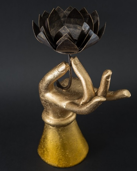 Candle Holder Collection-Lotus Hand B