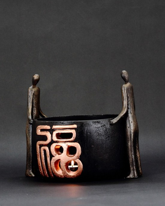 Candle Holder Collection-Dhá Fhigiúr (福)